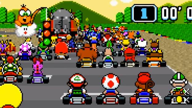 Una Carrera De 101 Corredores En Super Mario Kart Consola Y Tablero