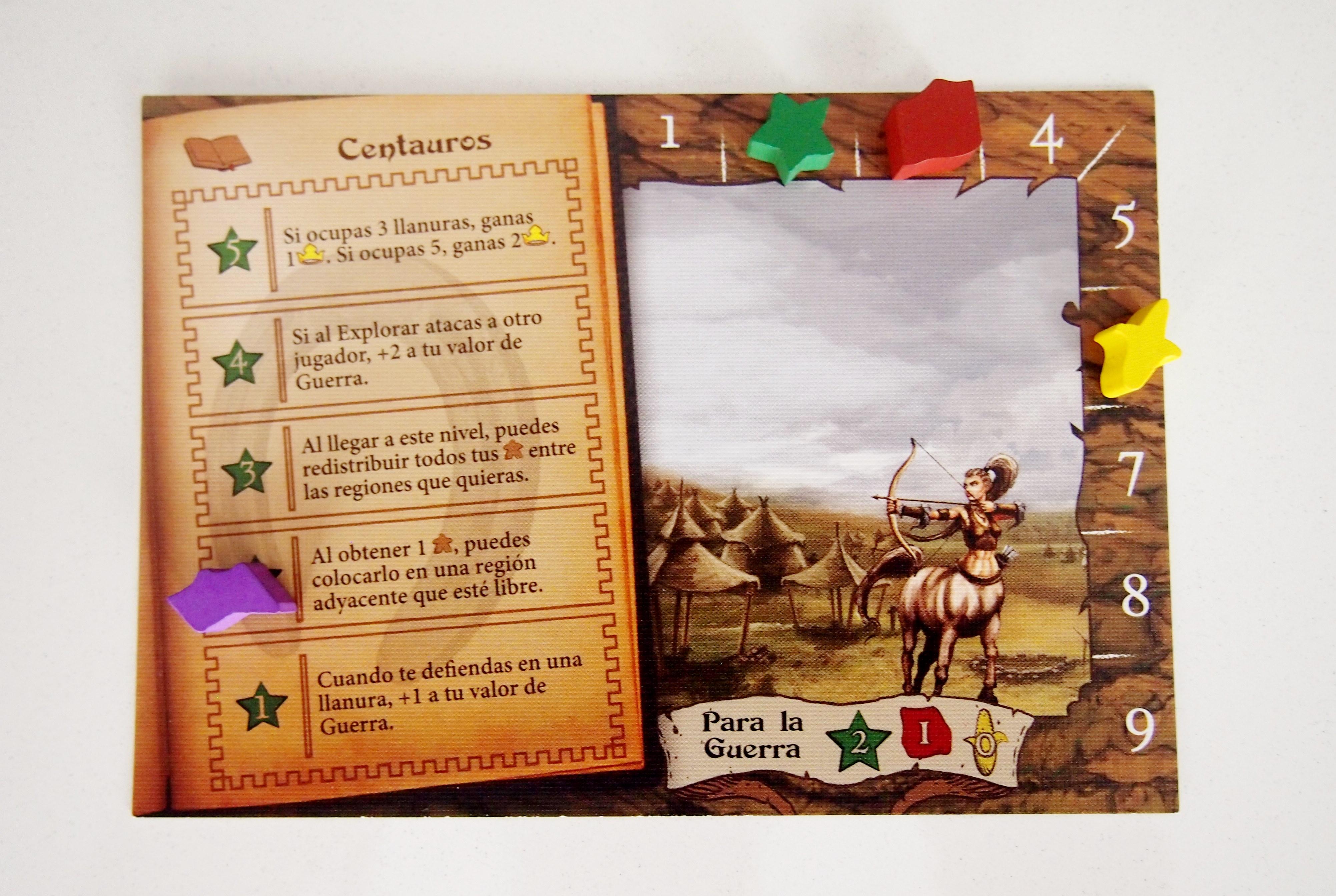 Las cartas de facción sirven para mejorar el nivel de magia y para marcar los recursos obtenidos.