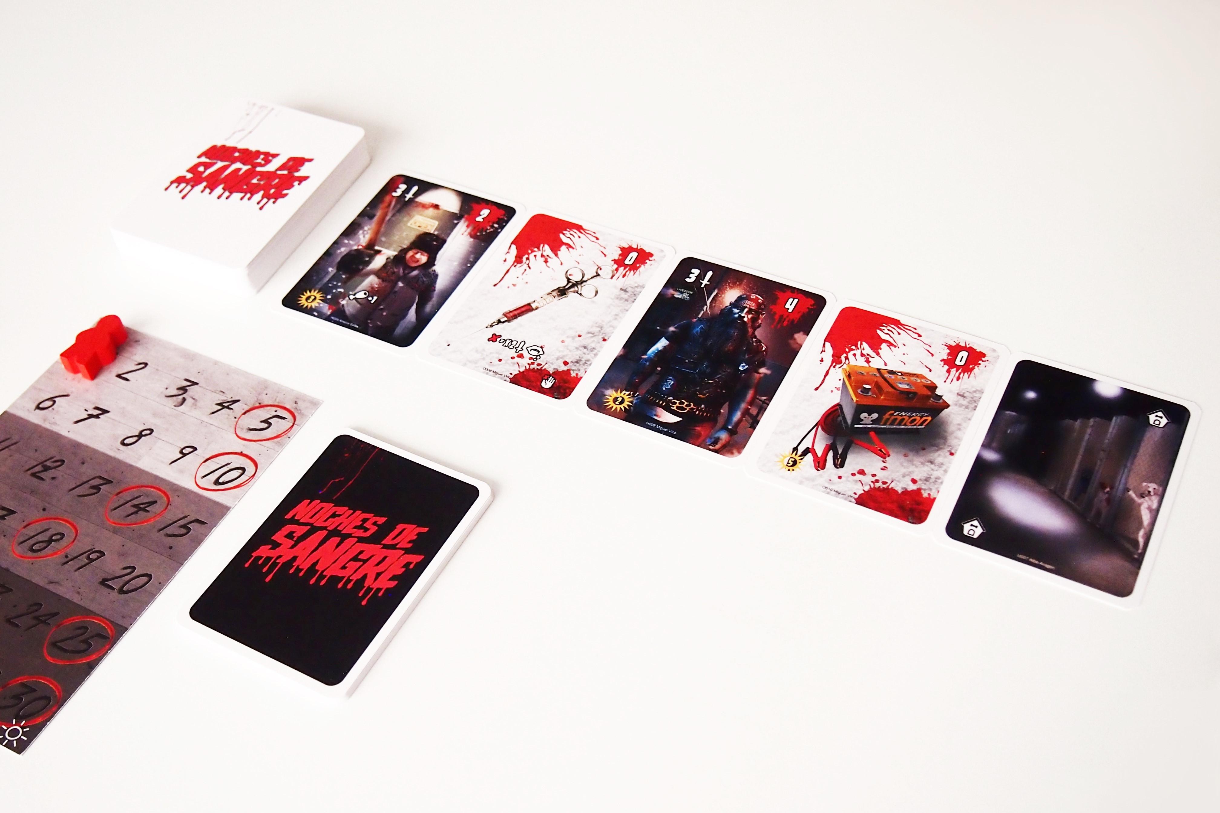 En los días de aprovisionamiento (impares), se descubren cinco cartas de calle.