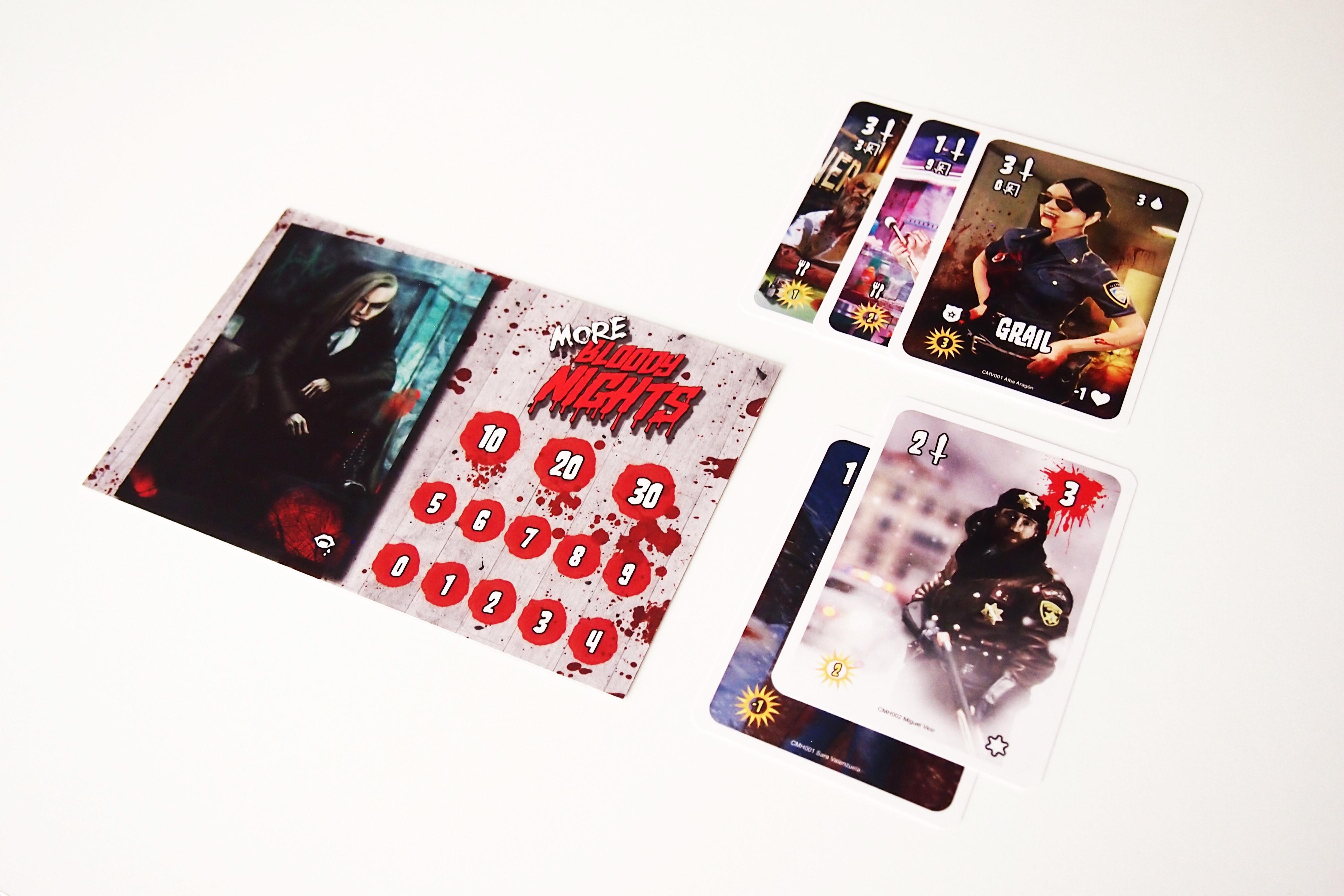 Los vampiros sólo pueden ganar si al finalizar el día 30 han convertido o eliminado a los demás jugadores. De todos ellos, el ganador será el que sume más puntos entre sus cartas de superviviente y vampiro obtenidas.