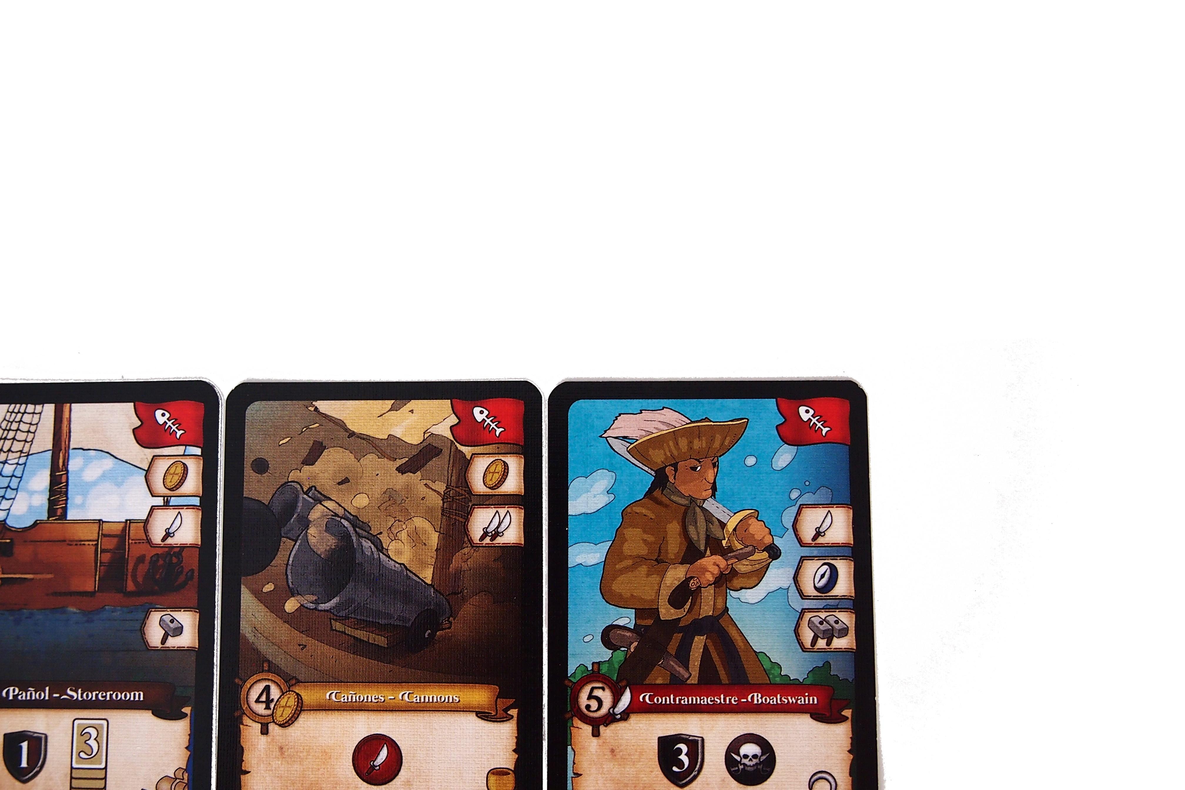 El turno también finaliza si se extraen tres cartas con el mismo evento. Todas ellas se descartan y no hay opción a compra.