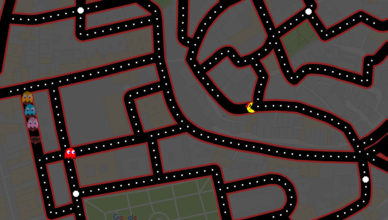 Ms Pac-Man Google Maps