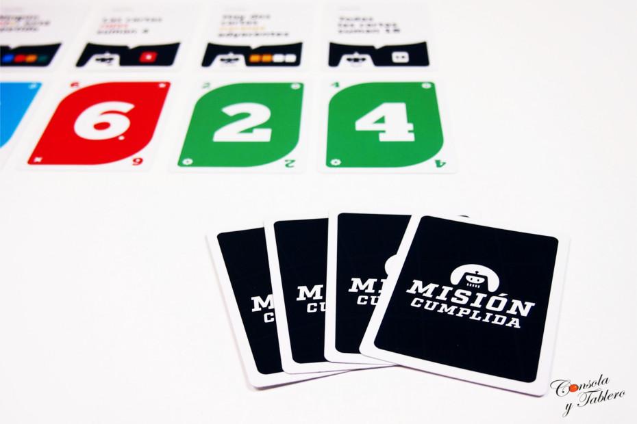 Misión Cumplida juego de cartas