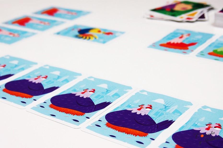 juego de cartas gallinas