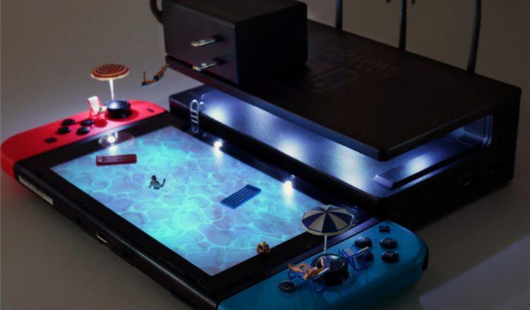 consolas Nintendo escenarios miniatura